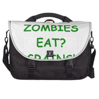 zombie joke laptop computer bag