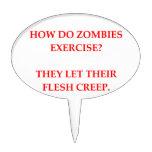 zombie joke oval cake topper