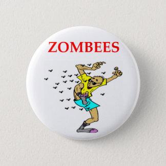 zombie joke pinback button