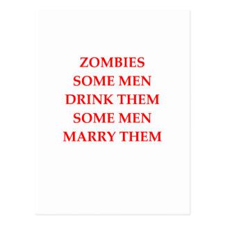 zombie joke postcard