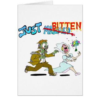 Zombie Just Married Card