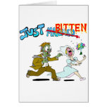 Zombie Just Married Greeting Card