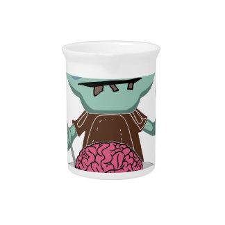 zombie kid eating brain pitcher