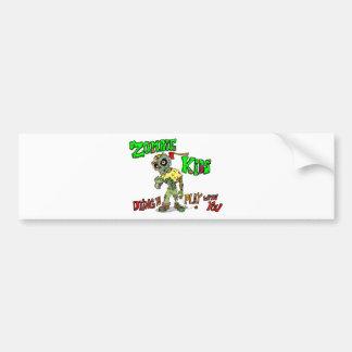 Zombie Kids Bumper Sticker