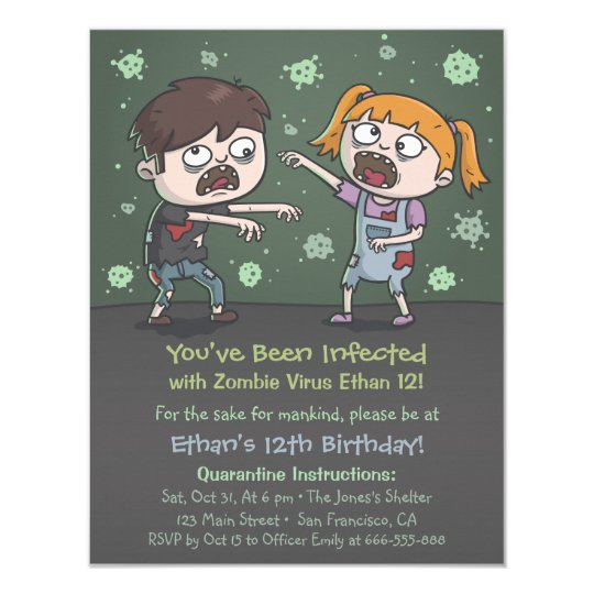 Zombie kids halloween birthday party invitations zazzle zombie kids halloween birthday party invitations stopboris Gallery