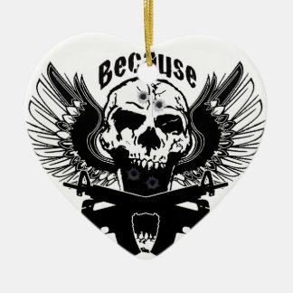 Zombie kill 4 Double-Sided heart ceramic christmas ornament