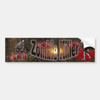 Zombie  Killer #3 Bumper Sticker Car Bumper Sticker