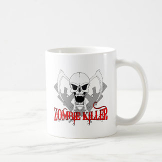 zombie killer 3 classic white coffee mug
