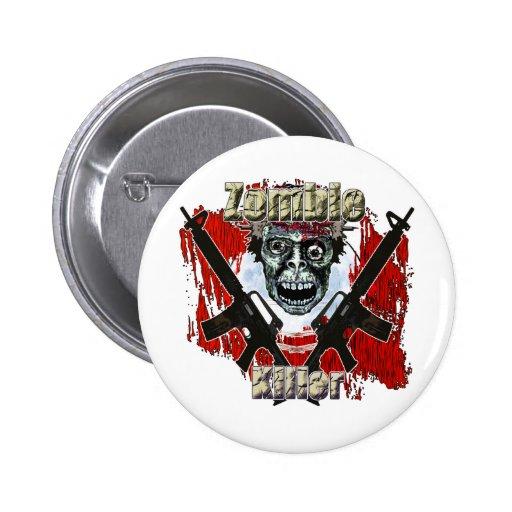 Zombie Killer 4 2 Inch Round Button