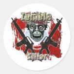 Zombie Killer 4 Classic Round Sticker