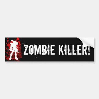 ZOMBIE KILLER! bumpersticker Car Bumper Sticker