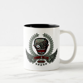 Zombie Killer Elite Squad Two-Tone Coffee Mug