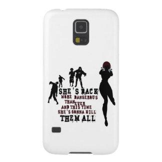 Zombie killer girl galaxy s5 cases