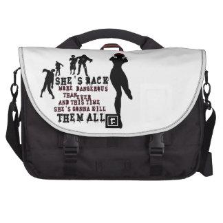 Zombie killer girl computer bag