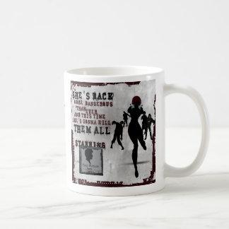 Zombie killer girl - movie poster classic white coffee mug