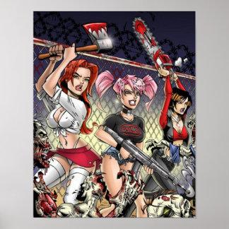 Zombie killer girls poster