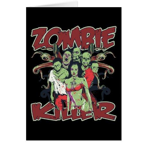 Zombie killer greeting card zazzle