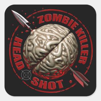 Zombie Killer Square Sticker