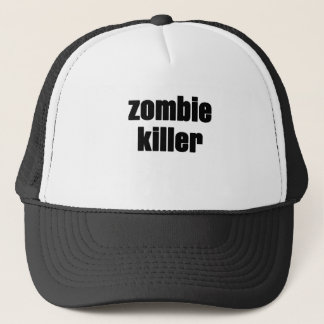 zombie killer trucker hat