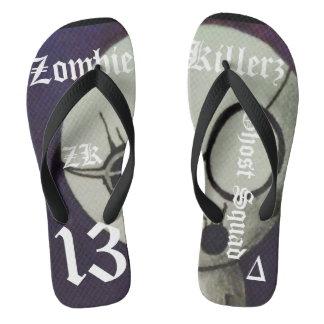 Zombie Killerz sleepy timz Flip Flops
