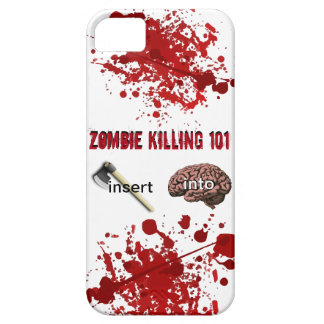 Zombie Killing 101 (insert ax into brain) iPhone SE/5/5s Case
