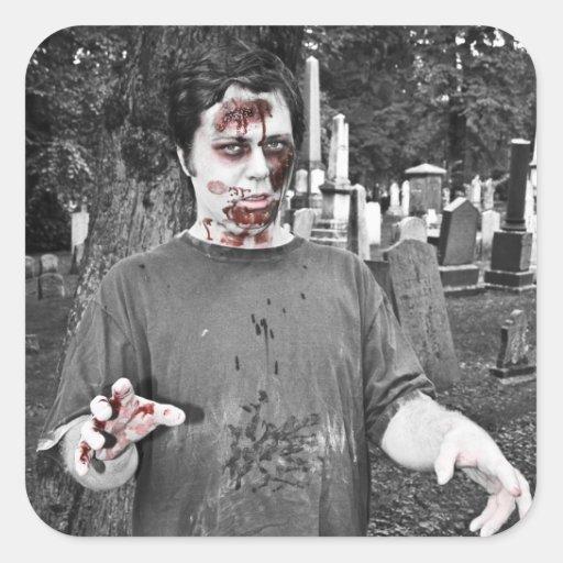 Zombie Kiss Stickers