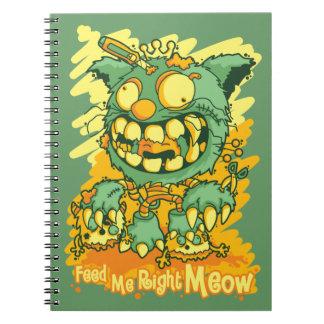 Zombie Kitten Spiral Notebook