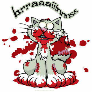 Zombie Kitty Brains!! Cut Out