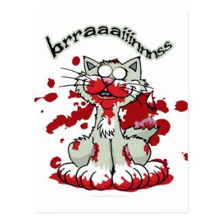 Zombie Kitty Brains!! Postcard