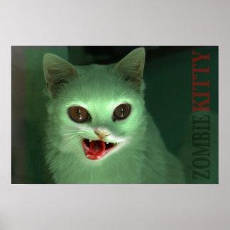 Zombie Kitty Print