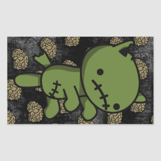 Zombie Kitty Rectangular Sticker