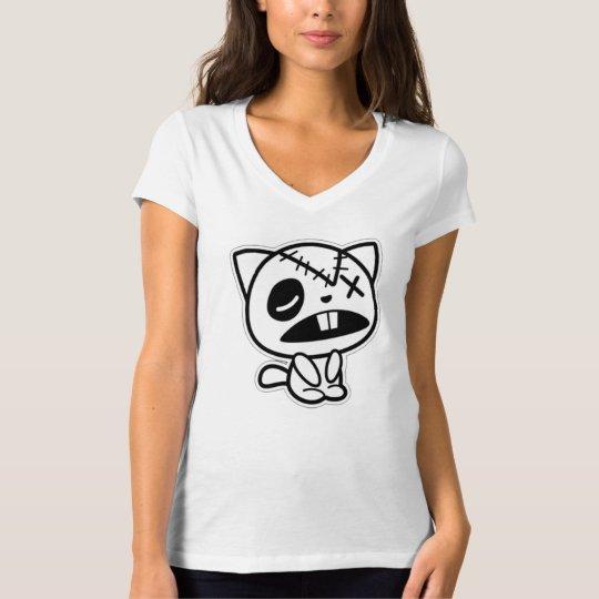 Zombie Kitty - White T-Shirt