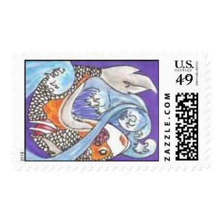 Zombie Koi stamps