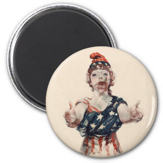 Zombie Lady Liberty 2 Inch Round Magnet
