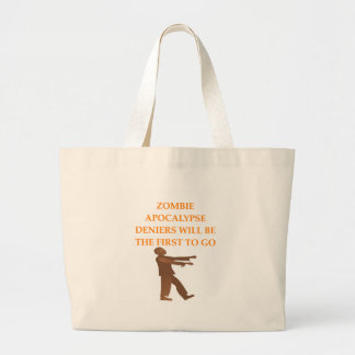 ZOMBIE LARGE TOTE BAG