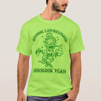 Zombie Leprechaun Drinking Team T-Shirt