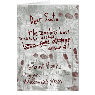 zombie letter card