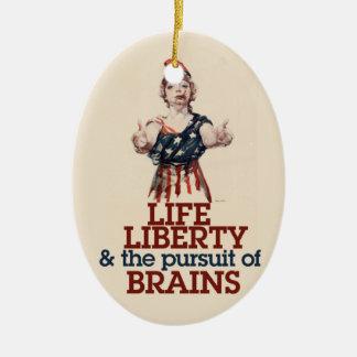 Zombie Liberty Ceramic Ornament