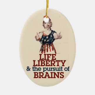 Zombie Liberty Christmas Tree Ornaments