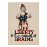 Zombie Liberty Poster