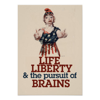 Zombie Liberty Print