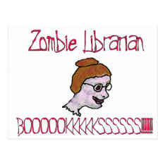 Zombie Librarian Postcard at Zazzle