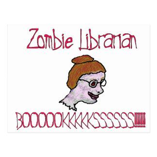 Zombie Librarian Postcard