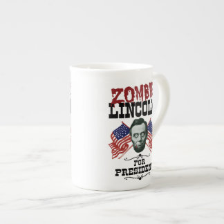 Zombie Lincoln For President - Funny Election Tea Cup
