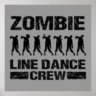 Zombie Line Dance Crew Print