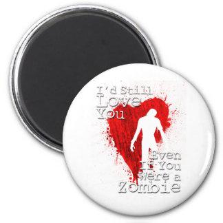 Zombie Love 2 Inch Round Magnet