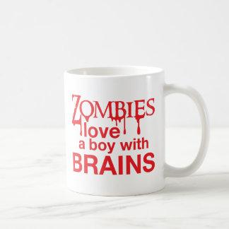 Zombie love a boy with brains coffee mug
