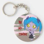 Zombie Love Basic Round Button Keychain