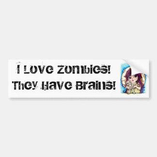 Zombie Love! Bumper Stickers