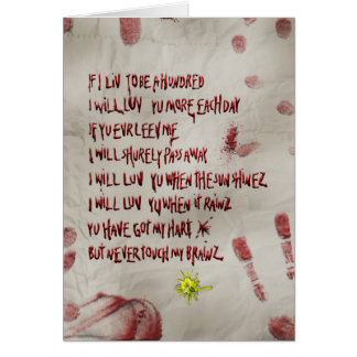 zombie love greeting cards